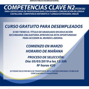 Curso de Competencias Clave N2 para certificados de profesionalidad con idiomas