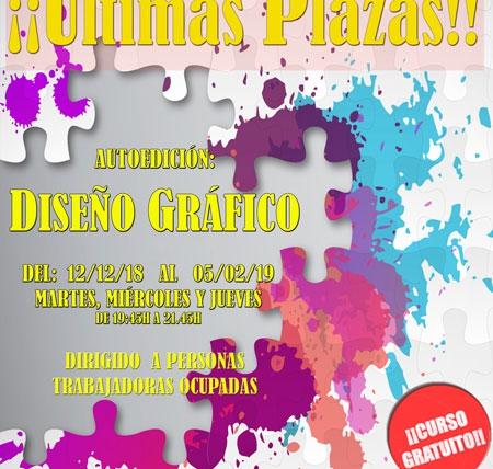 ¡Últimas plazas para el curso gratuito de Diseño Gráfico!