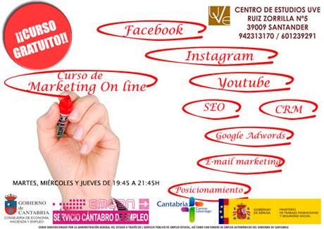 Curso gratuito de Marketing on line: Diseño y promoción de sitios web en Santander
