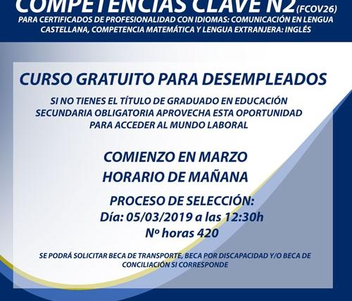 Nuevo Curso en Santander para desempleados:  Competencias Clave N2 para certificados de profesionalidad con idiomas