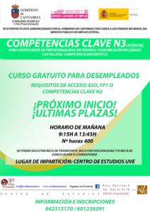 Curso para desempleados gratis en Santander