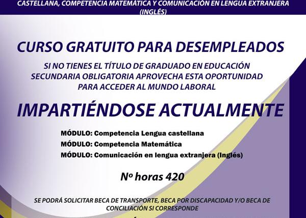 Curso Gratuíto de Competencias Clave N2 para desempleados en Santander