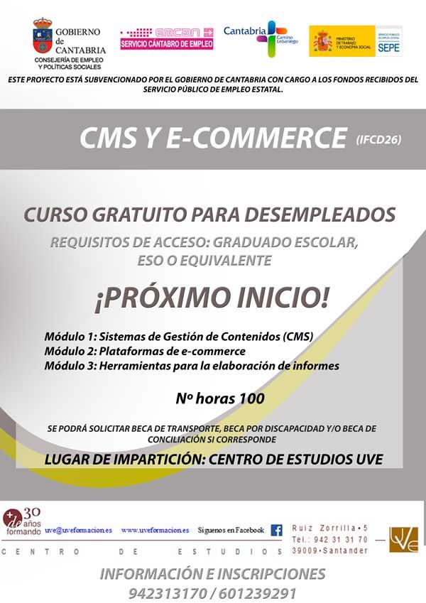 Curso gratis de e-commerce en santander para desempleados