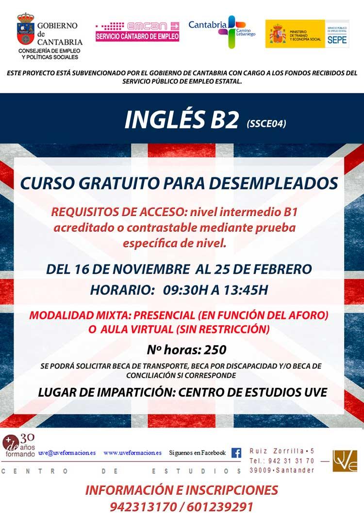 Curso gratis de ingles en santander para desempleados