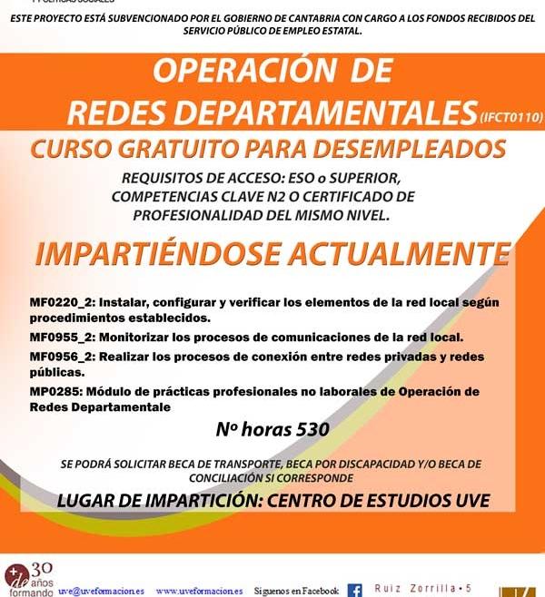 Curso de redes departamentales en Santander para desempleados