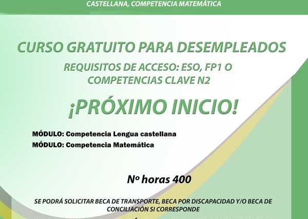 Competencias clave N3 para certificados de profesionalidad sin idiomas: Comunicación en lengua castellana y competencia matemática